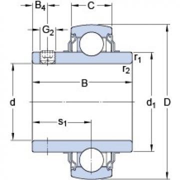 74.613 mm x 130 mm x 73.3 mm  SKF YAR 215-215-2FW/VA228 roulements rigides à billes