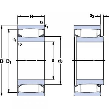 130 mm x 210 mm x 80 mm  SKF C 4126-2CS5V/GEM9 roulements à rouleaux cylindriques