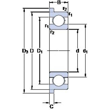 1.5 mm x 5 mm x 2 mm  SKF W 619/1.5 R roulements rigides à billes