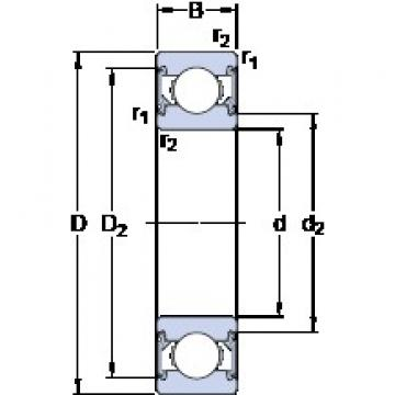 25 mm x 52 mm x 15 mm  SKF E2.6205-2RSH roulements rigides à billes