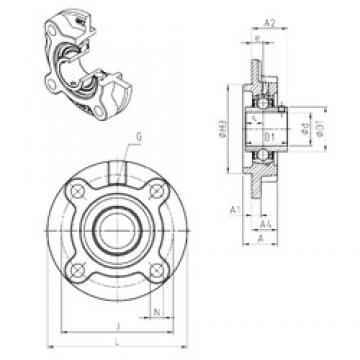 SNR UCFC210 unités de roulement