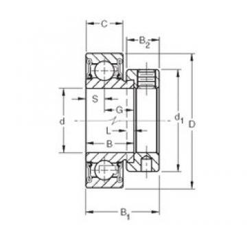 34,925 mm x 72 mm x 25,4 mm  Timken RA106RR roulements rigides à billes