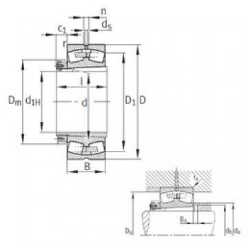 260 mm x 540 mm x 165 mm  FAG 22352-K-MB roulements à rouleaux sphériques