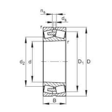 380 mm x 560 mm x 135 mm  FAG 23076-E1A-K-MB1 roulements à rouleaux sphériques