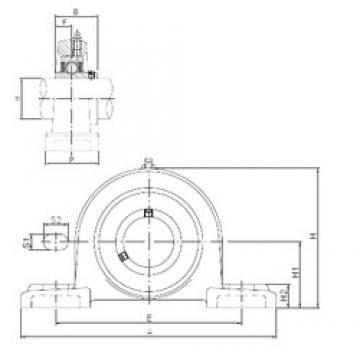 ISO UCPX10 unités de roulement