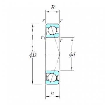 55 mm x 100 mm x 21 mm  KOYO 7211CPA roulements à billes à contact oblique
