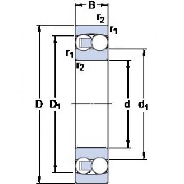 65 mm x 140 mm x 48 mm  SKF 2313 roulements à billes auto-aligneurs