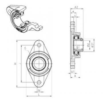 SNR USFL206 unités de roulement