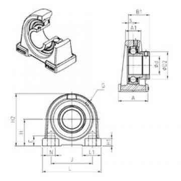 SNR ESPA210 unités de roulement