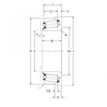 88,9 mm x 136,525 mm x 34 mm  Gamet 126088X/126136XC Roulements à rouleaux coniques