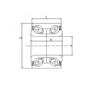 42 mm x 82 mm x 36 mm  ILJIN IJ131006 roulements à billes à contact oblique