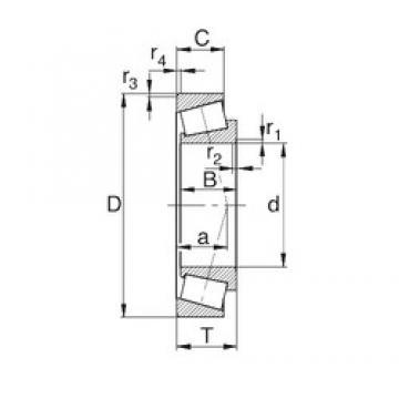 41.275 mm x 73.025 mm x 17.462 mm  KBC 18590/18520 Roulements à rouleaux coniques
