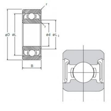 12 mm x 21 mm x 5 mm  NMB L-2112DD roulements rigides à billes