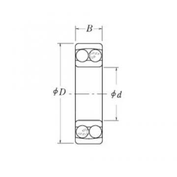 88,9 mm x 165,1 mm x 28,575 mm  RHP NLJ3.1/2 roulements à billes auto-aligneurs