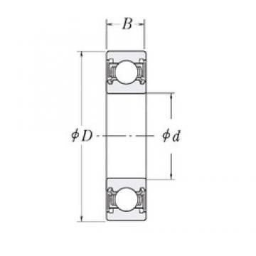 44,45 mm x 95,25 mm x 20,6375 mm  RHP LJ1.3/4-2RS roulements rigides à billes