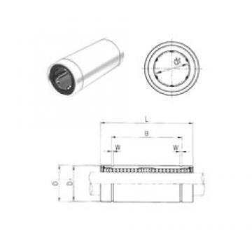 25 mm x 40 mm x 82 mm  Samick LM25LUU roulements linéaires