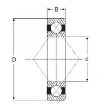 69,85 mm x 133,35 mm x 23,9125 mm  SIGMA QJL 2.3/4 roulements à billes à contact oblique
