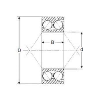 45 mm x 85 mm x 30,2 mm  SIGMA 3209 roulements à billes à contact oblique