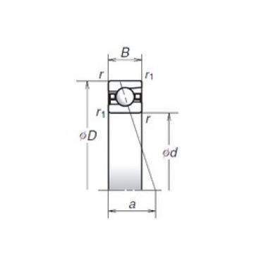 140 mm x 190 mm x 24 mm  NSK 140BNR19S roulements à billes à contact oblique