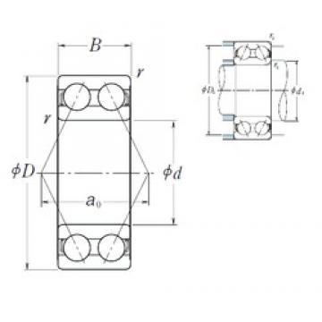 60 mm x 130 mm x 54 mm  NSK 5312 roulements à billes à contact oblique