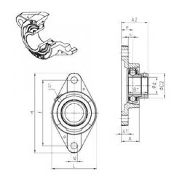 SNR ESFLE210 unités de roulement