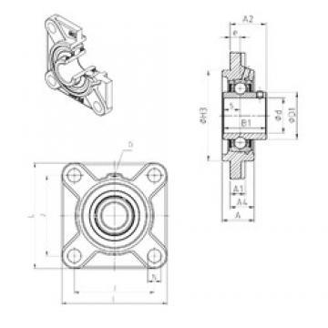 SNR UCFS318 unités de roulement