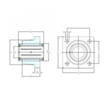 SKF LVCR 25-2LS roulements linéaires